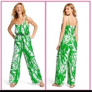 Lily Pulitzer Boom Boom Green Floral Jumpsuit XS